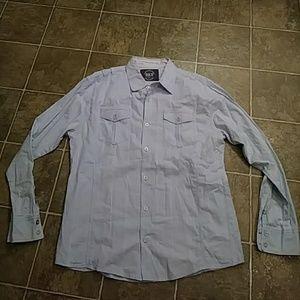 Mens BKE Lt Blue button up Shirt XL Athletic Fit